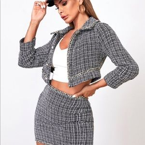 Tweed Skirt & Blazer Set